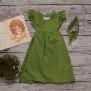 leinenkleid grün